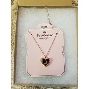 Juicy couture J diamond heart necklace